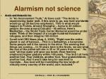 alarmism not science24