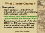 what climate change