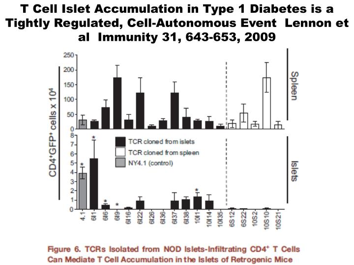 T Cell Islet Accumulation in Type 1 Diabetes is a Tightly Regulated, Cell-Autonomous Event  Lennon e...