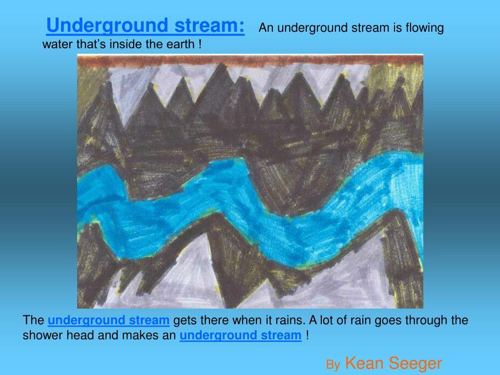 Underground stream: