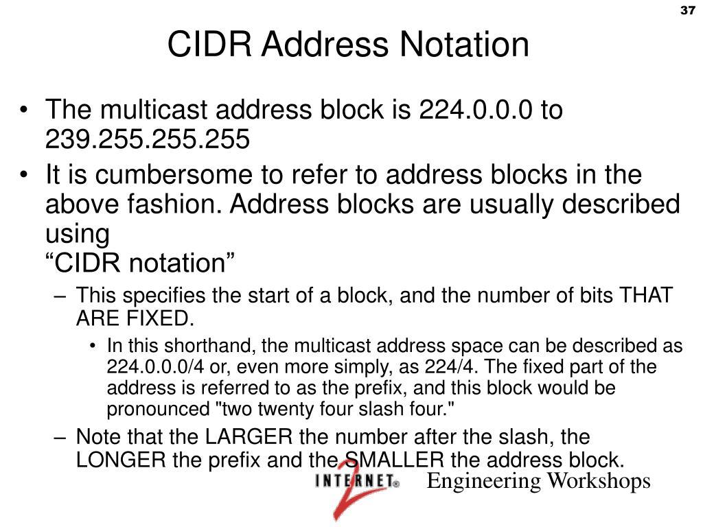 CIDR Address Notation