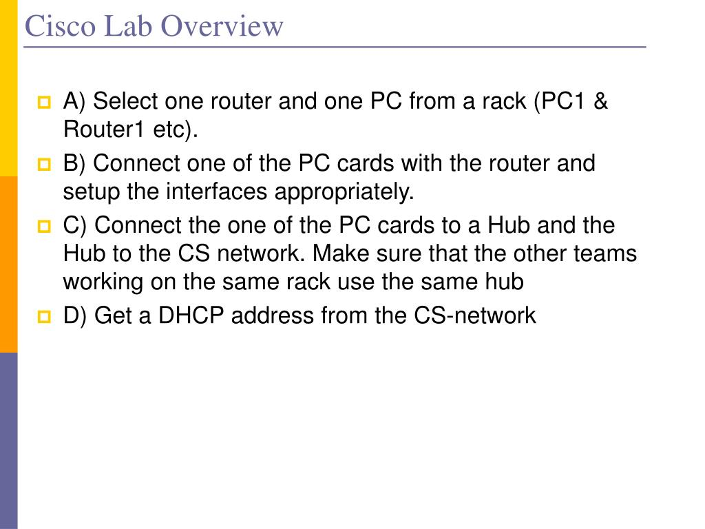 Cisco Lab Overview