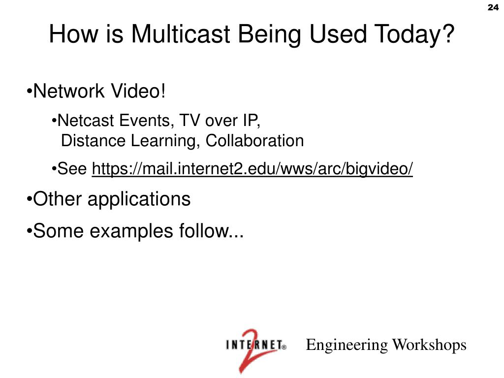 How is Multicast Being Used Today?