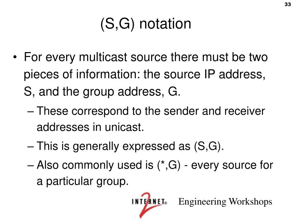 (S,G) notation