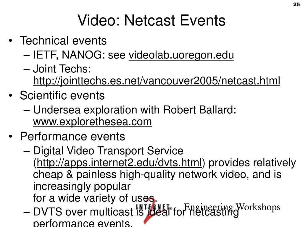 Video: Netcast Events