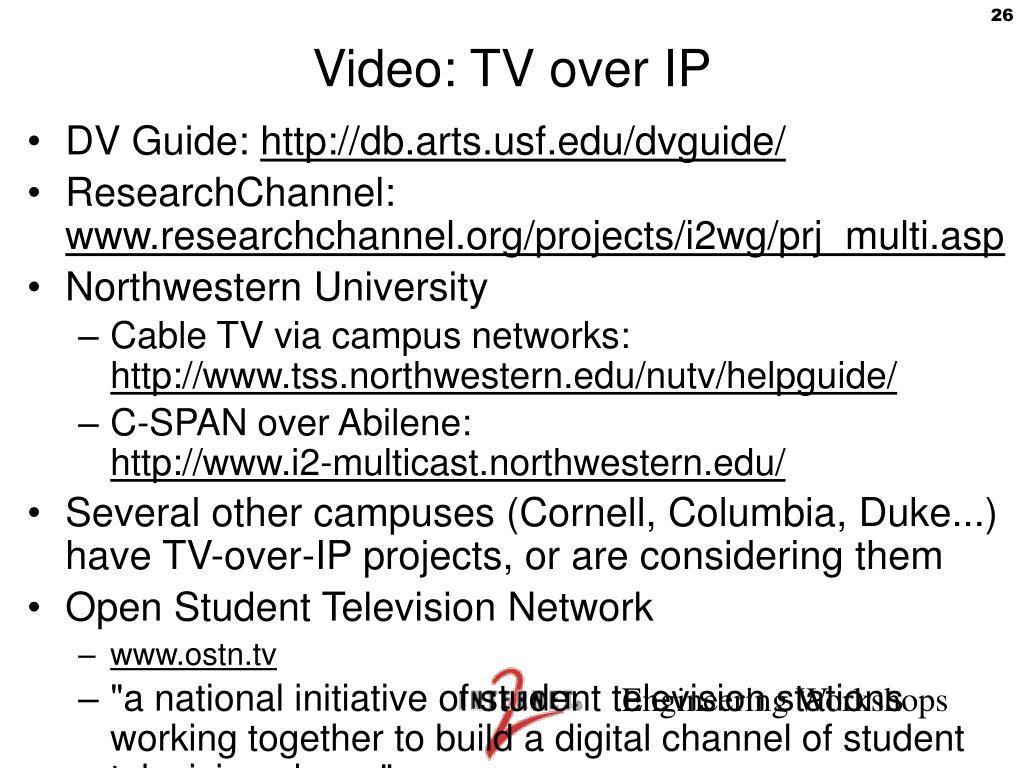 Video: TV over IP