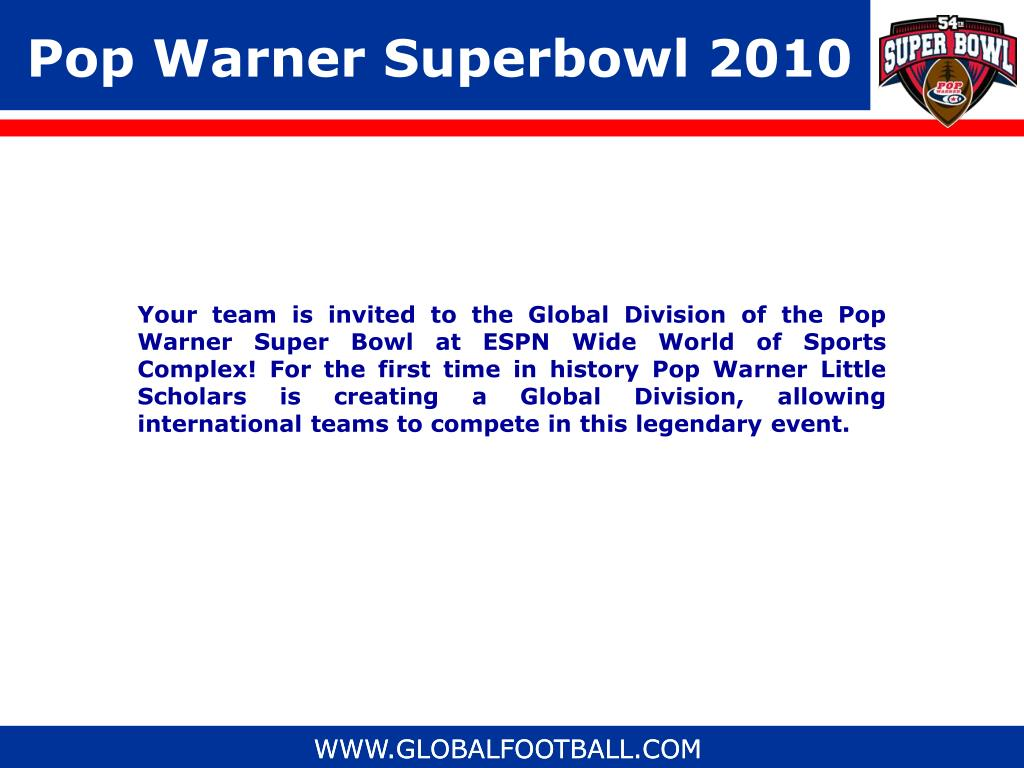 Pop Warner Superbowl 2010