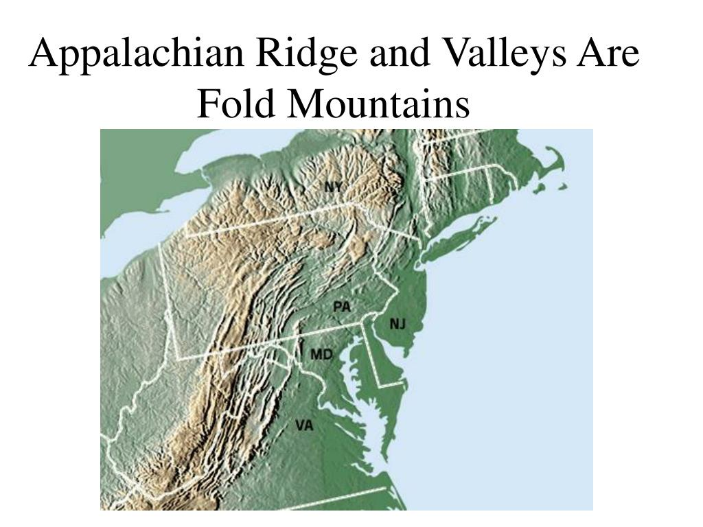 Appalachian Ridge and Valleys Are Fold Mountains