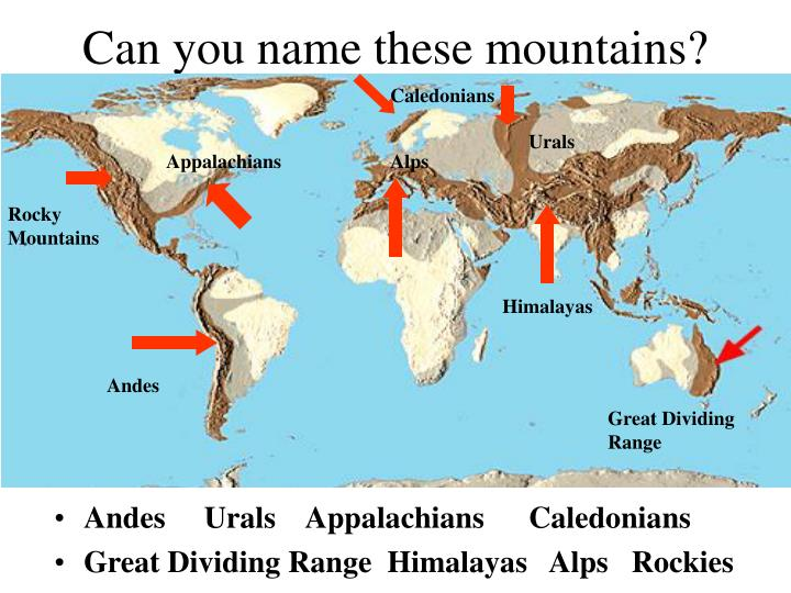 Can you name these mountains