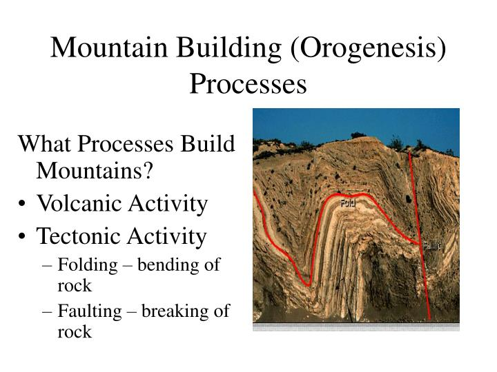 Mountain building orogenesis processes