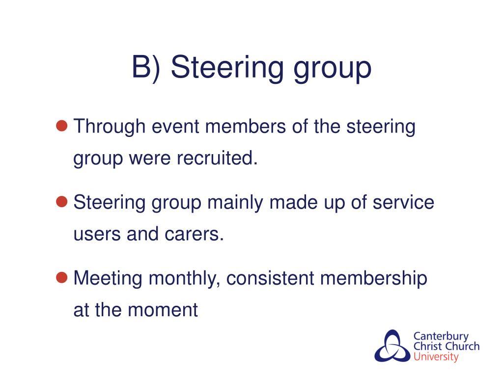 B) Steering group