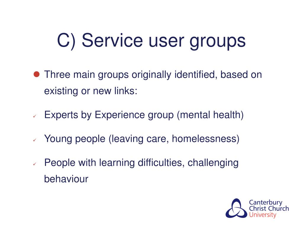 C) Service user groups