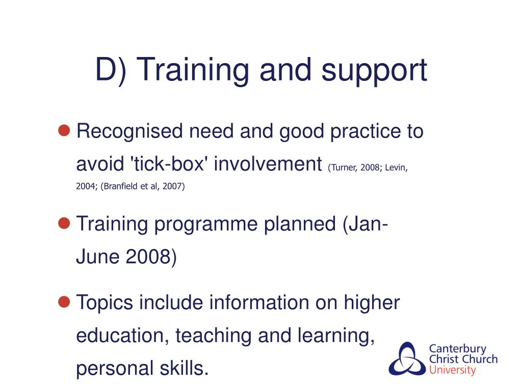 D) Training and support