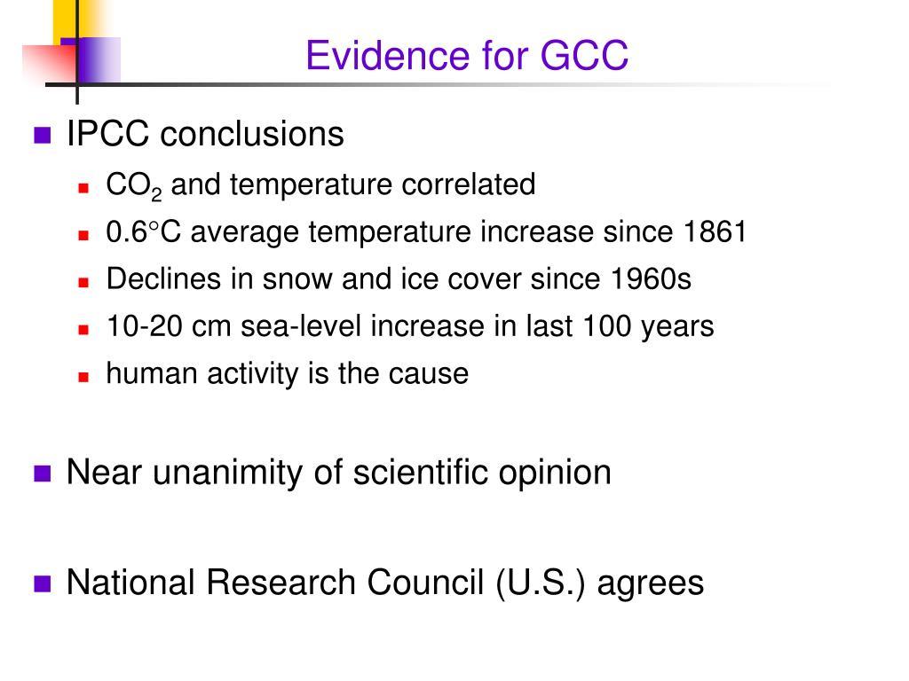 Evidence for GCC