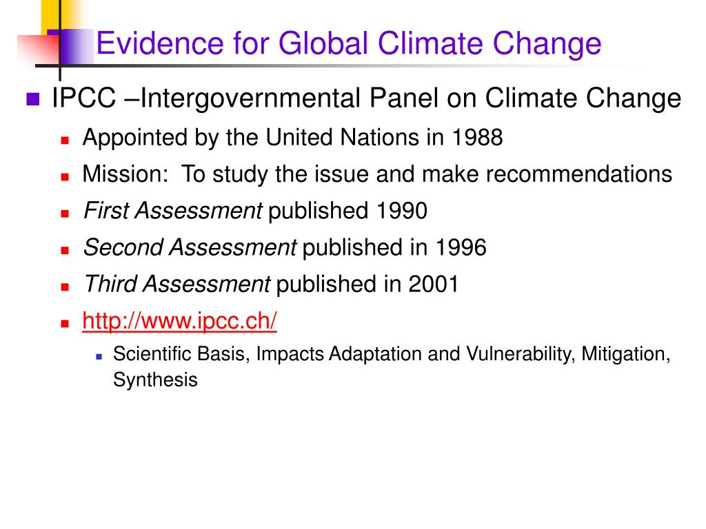 Evidence for Global Climate Change