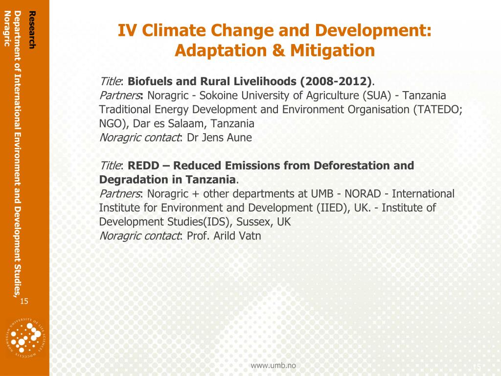 Department of International Environment and Development Studies,