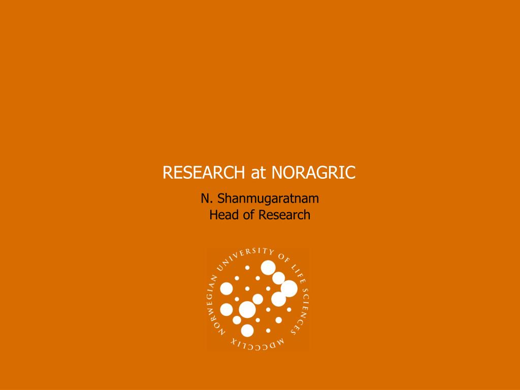 RESEARCH at NORAGRIC