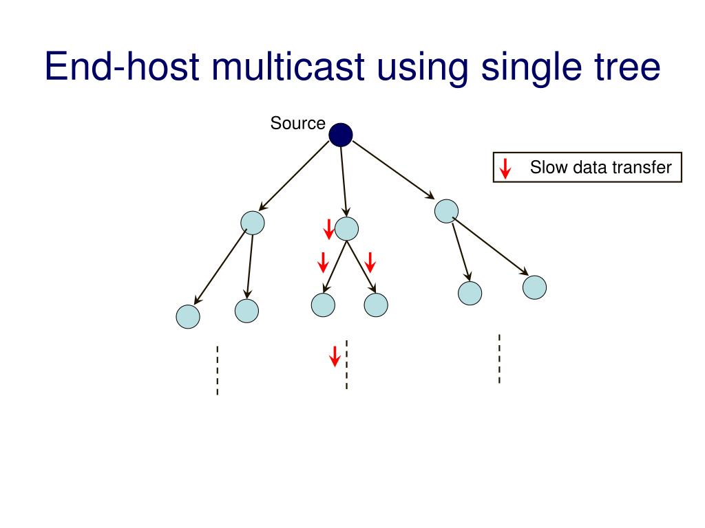 End-host multicast using single tree