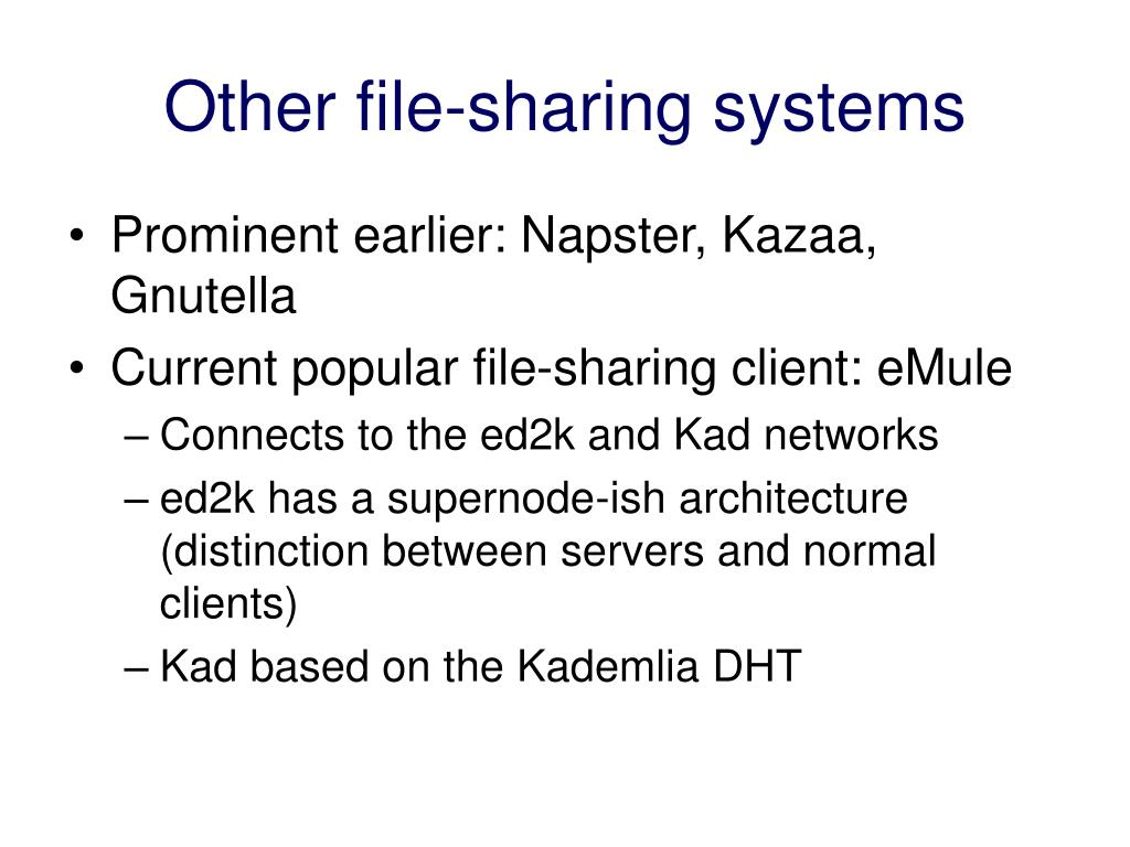 Other file-sharing systems