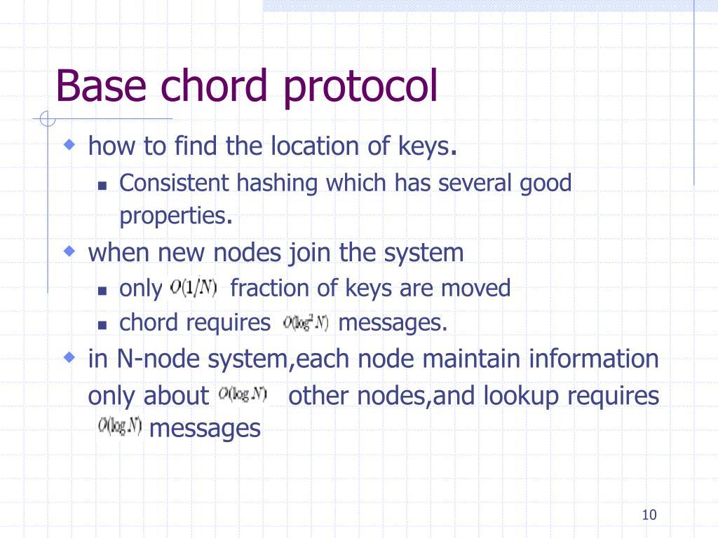 Base chord protocol