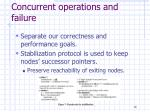 concurrent operations and failure