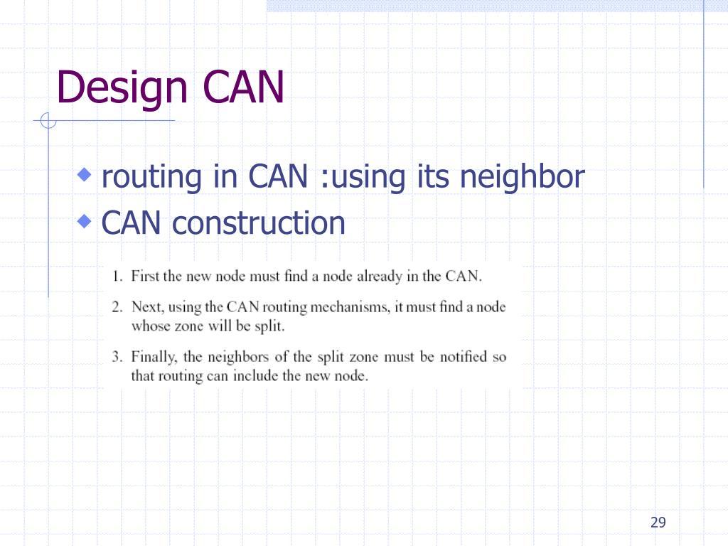 Design CAN