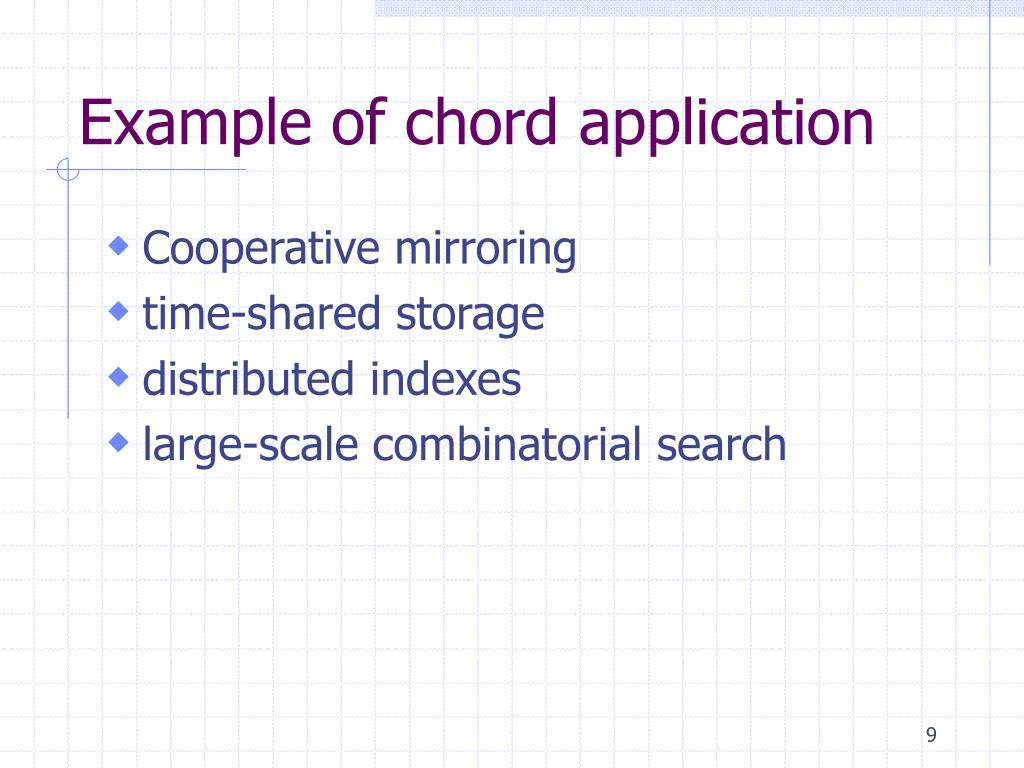 Example of chord application