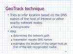 geotrack technique