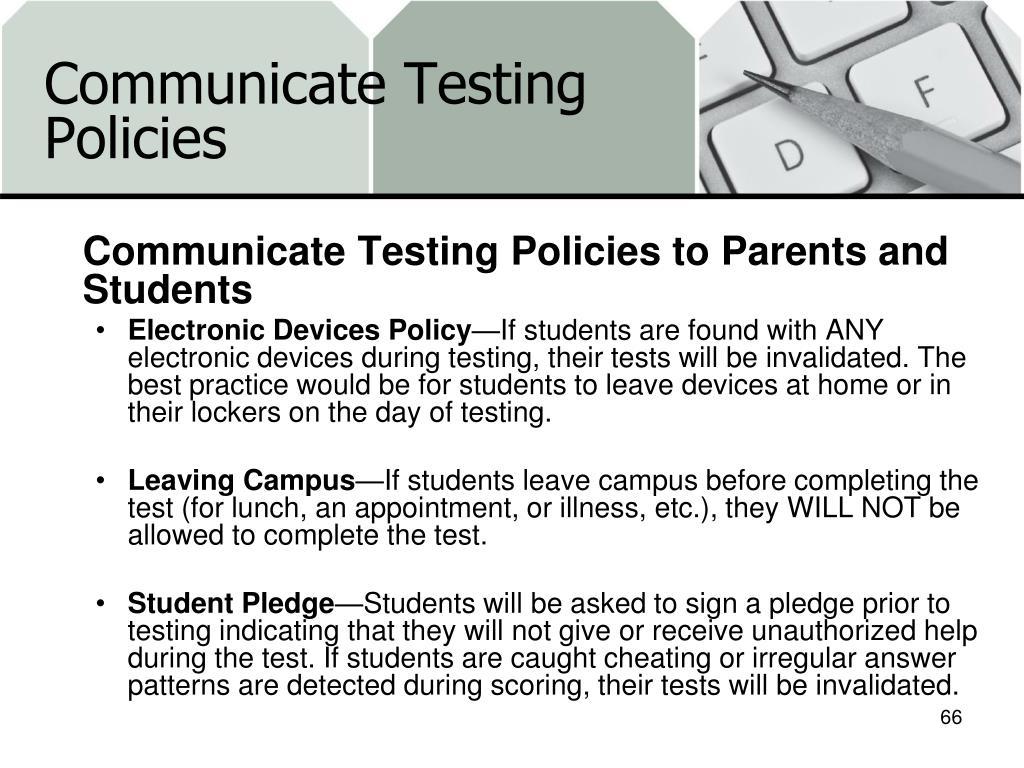 Communicate Testing