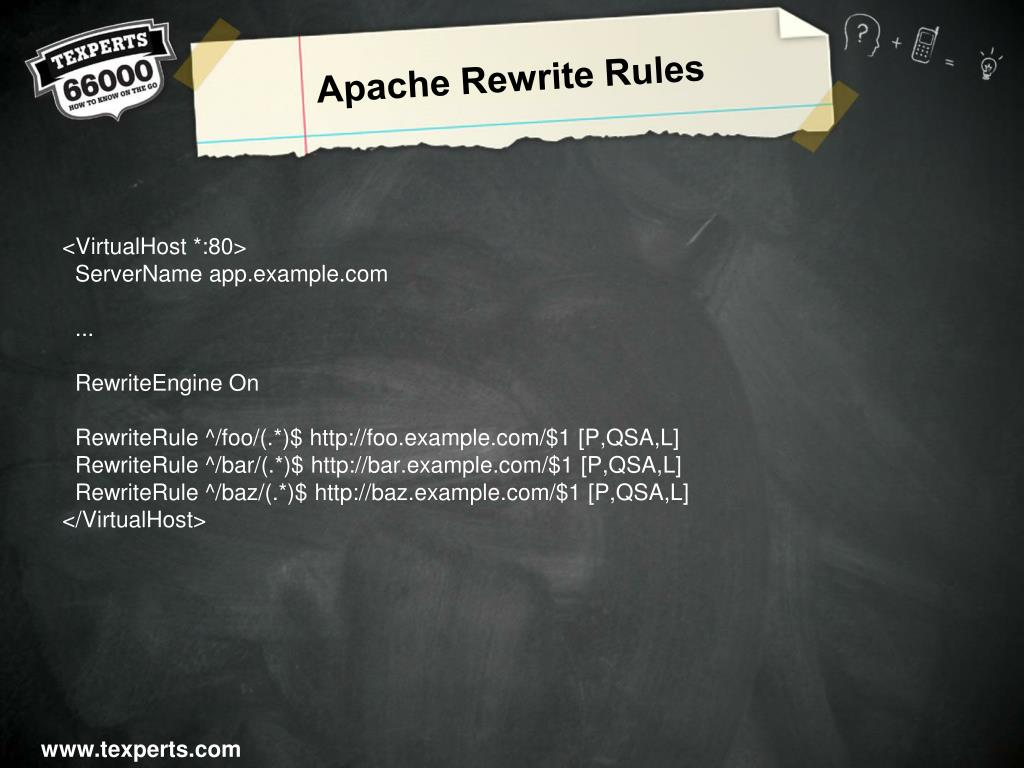 Apache Rewrite Rules