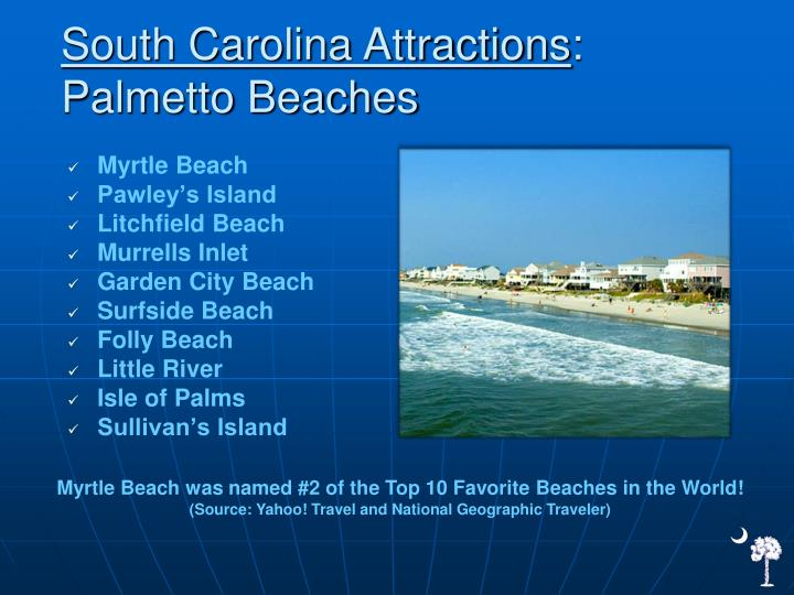 South Carolina Attractions
