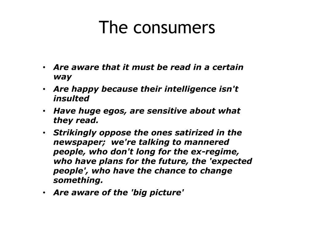 The consumers