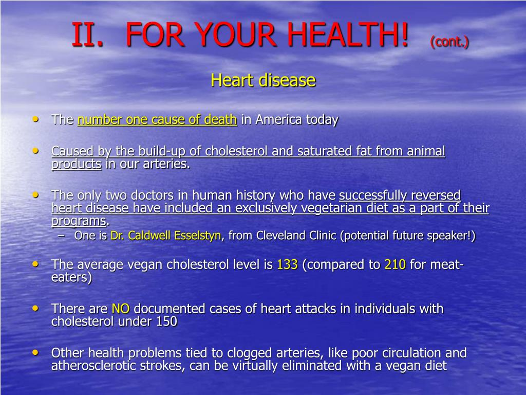 II.  FOR YOUR HEALTH!