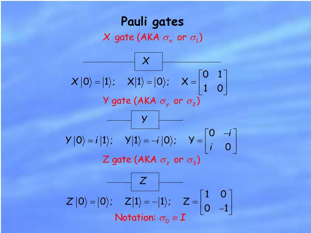 Pauli gates