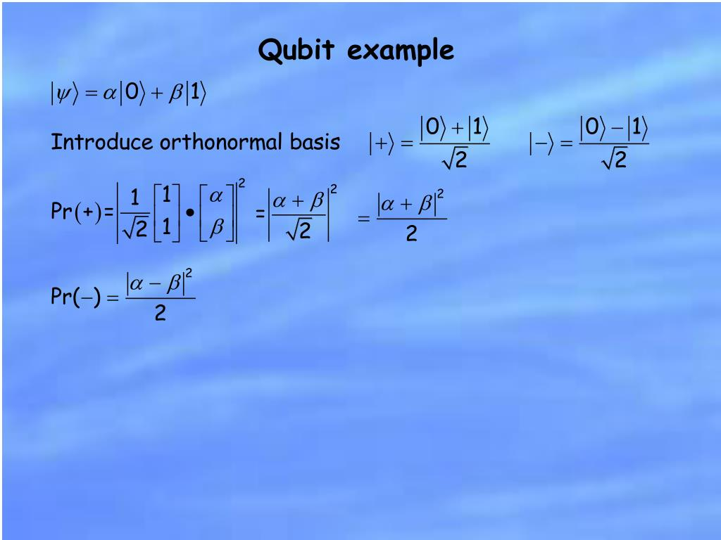 Qubit example