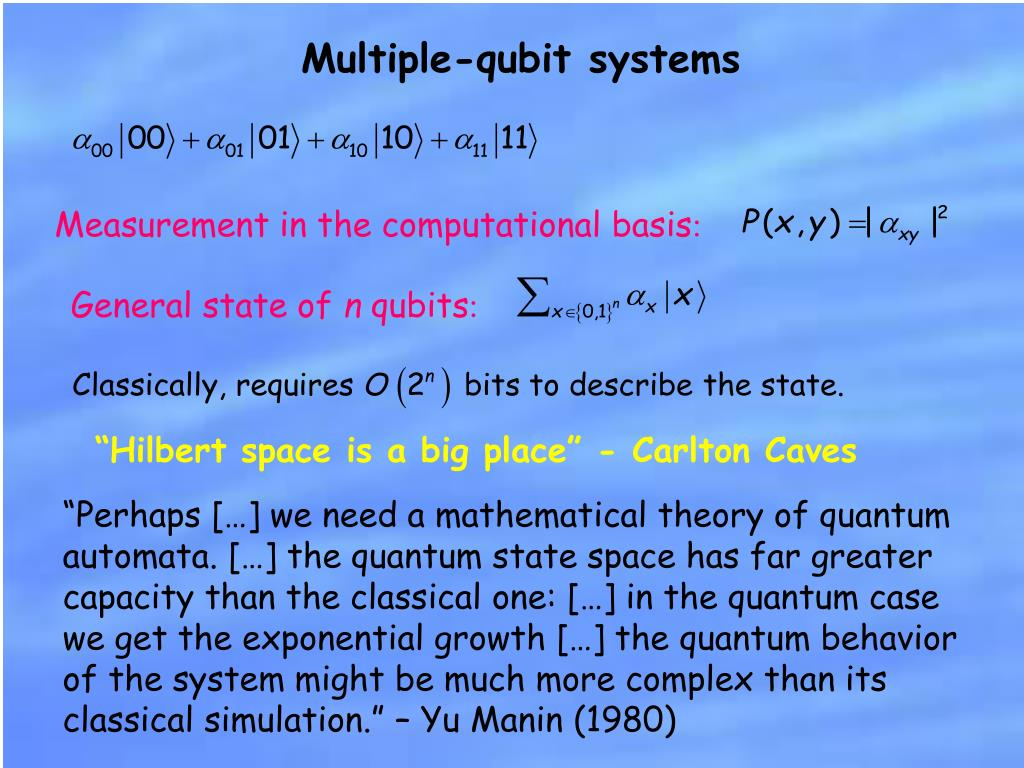 Multiple-qubit systems