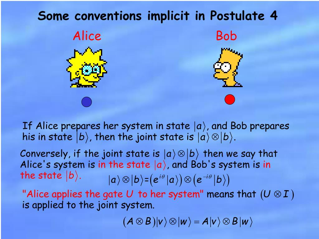 Some conventions implicit in Postulate 4