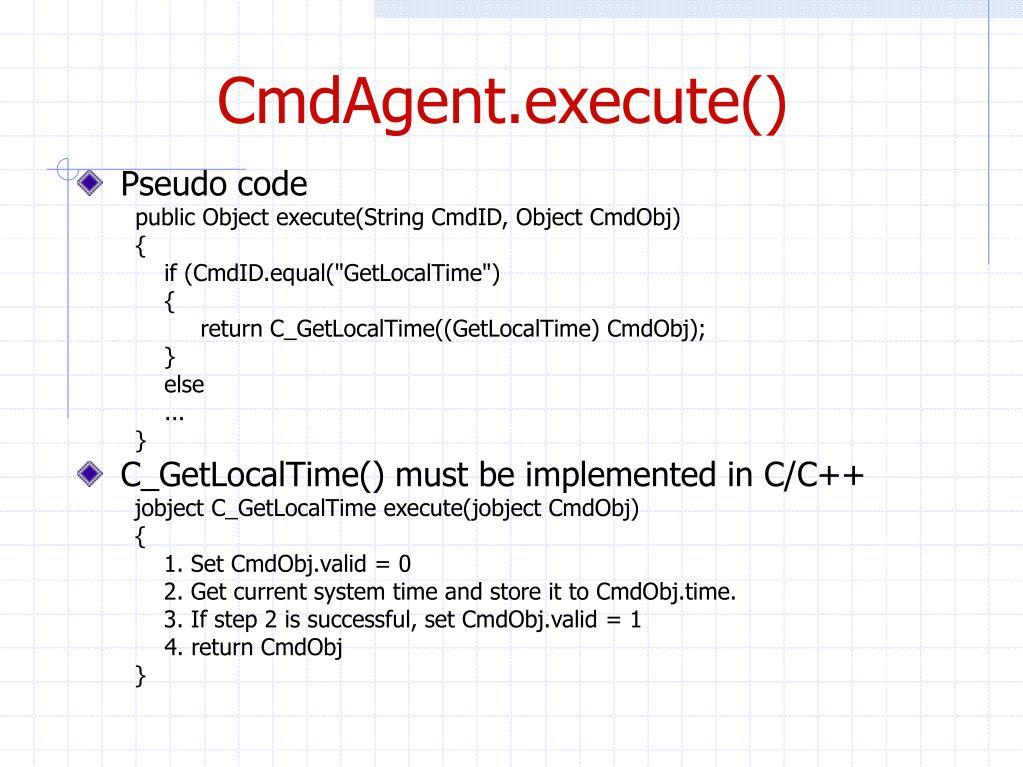 CmdAgent.execute()