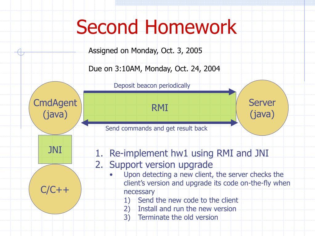 Second Homework