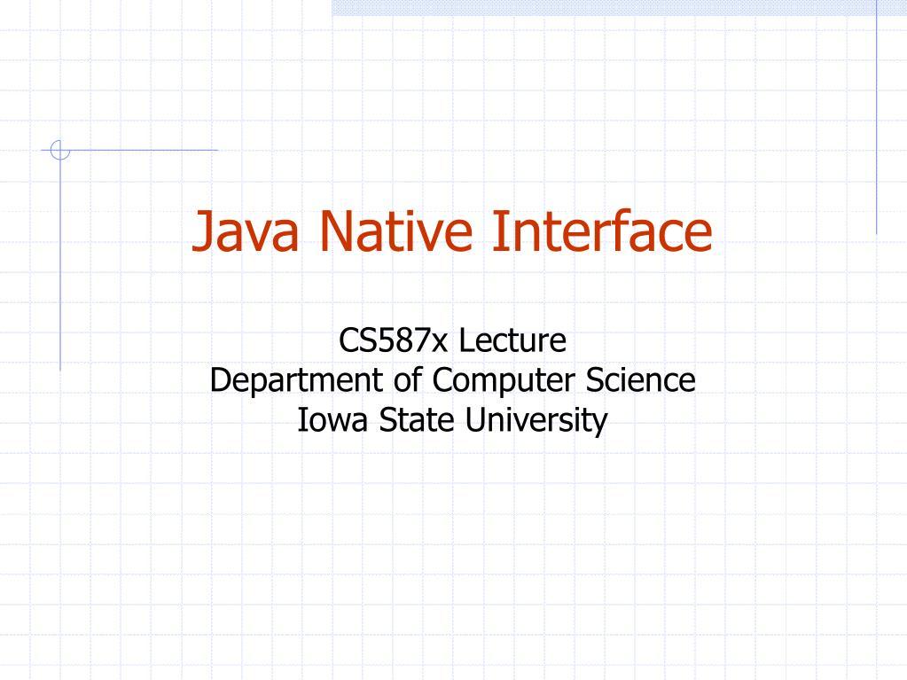 Java Native Interface