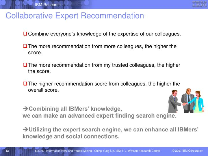 Collaborative Expert Recommendation