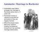 antoinette marriage to rochester