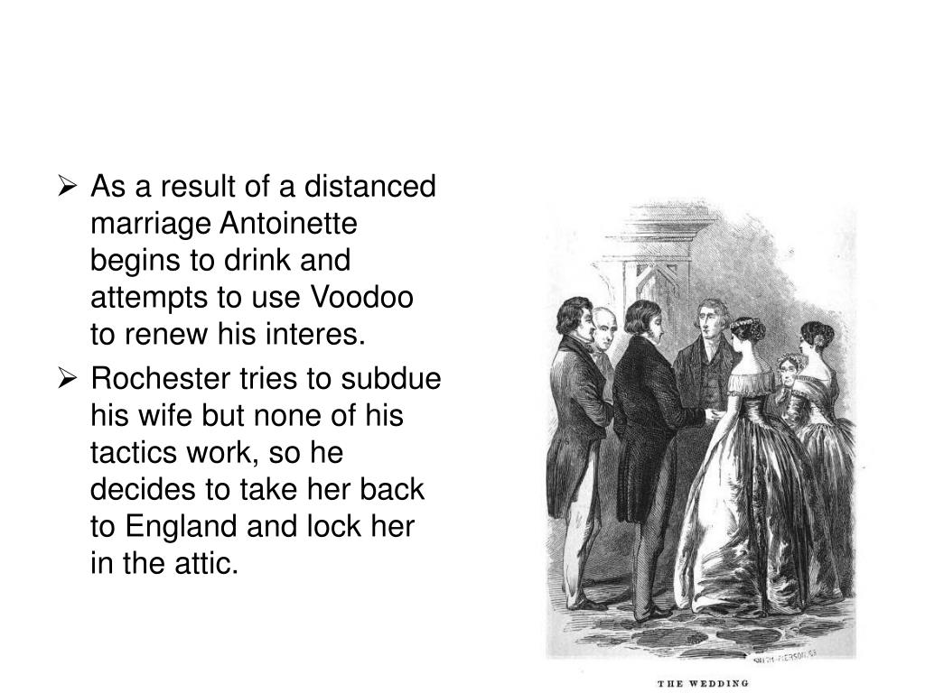 As a result of a distanced marriage Antoinette begins to drink and attempts to use Voodoo to renew his interes.