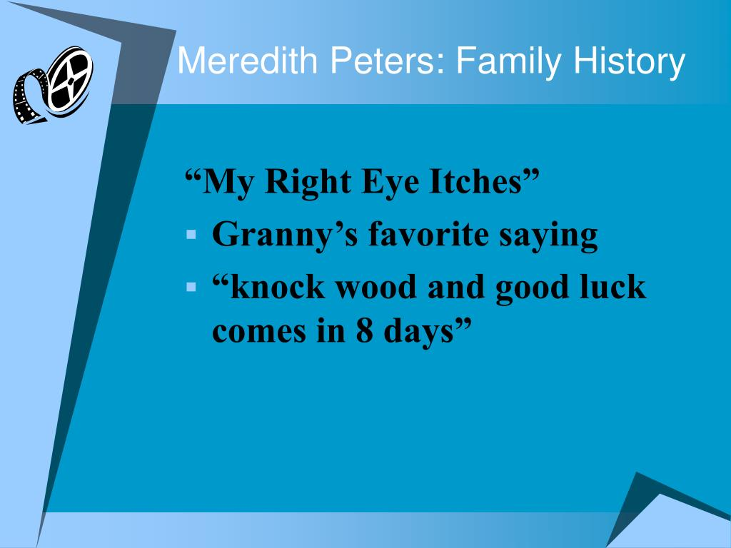 Meredith Peters: Family History