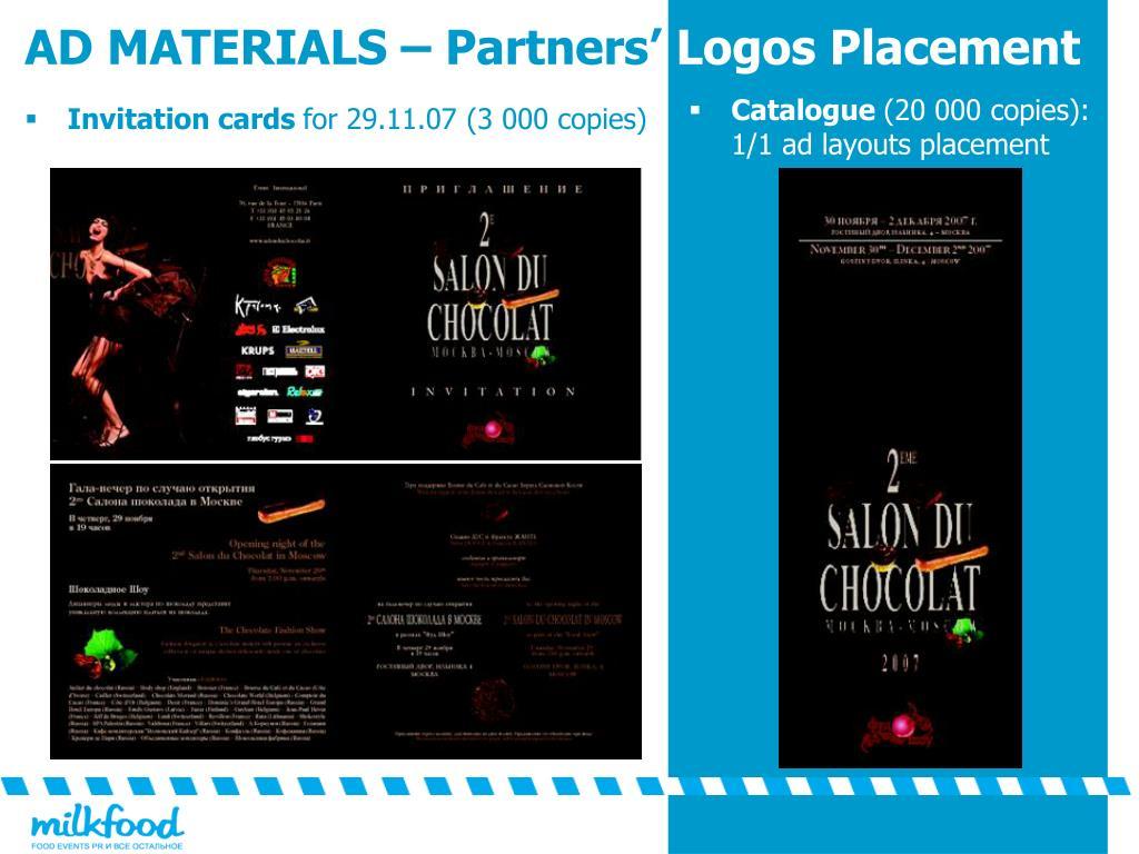 AD MATERIALS – Partners'