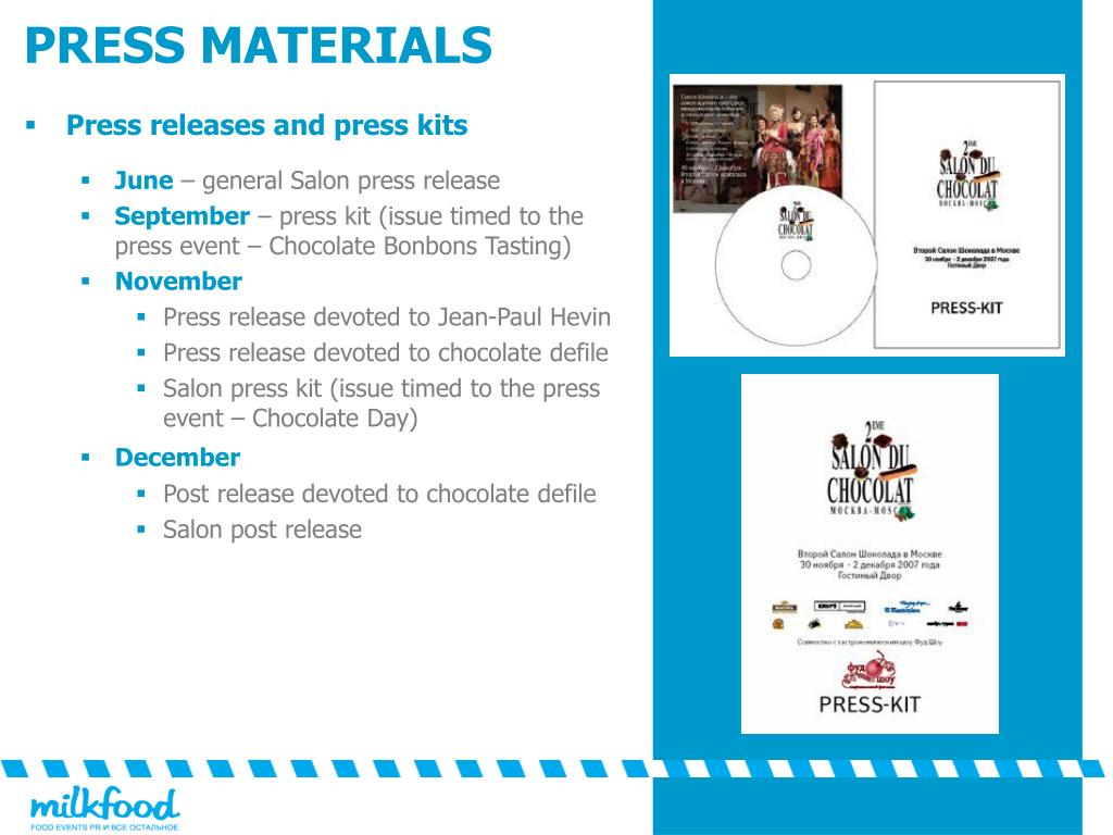 Press releases and press kits