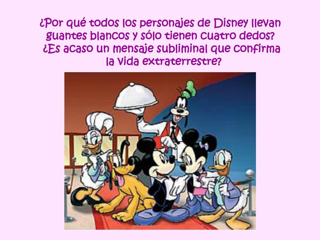 ¿Por qué todos los personajes de Disney llevan
