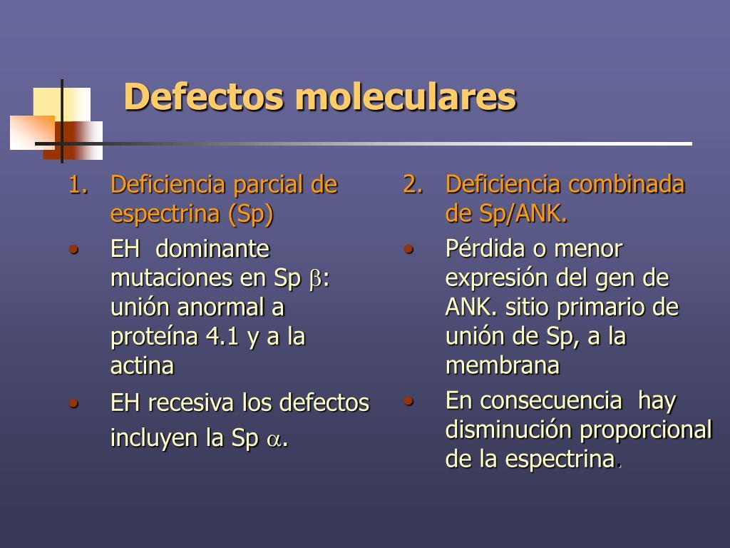 Deficiencia parcial de espectrina (Sp)