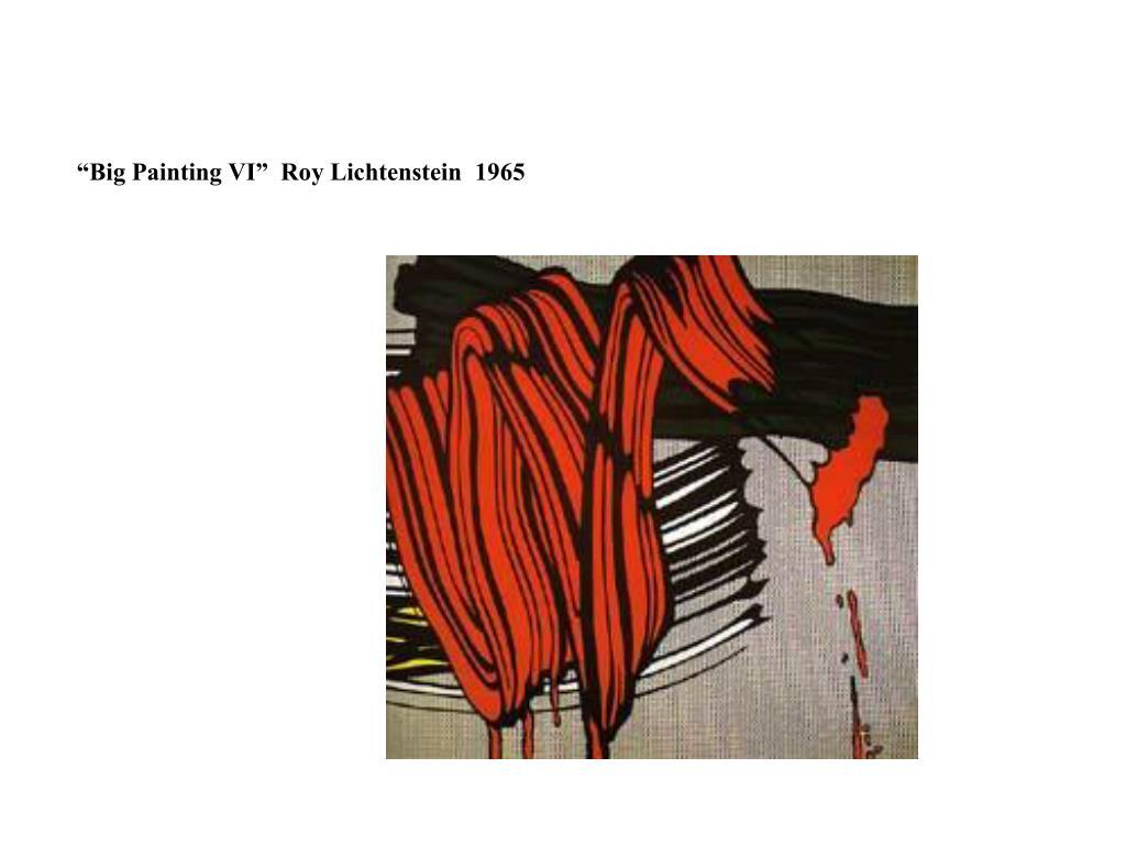 """""""Big Painting VI""""  Roy Lichtenstein  1965"""