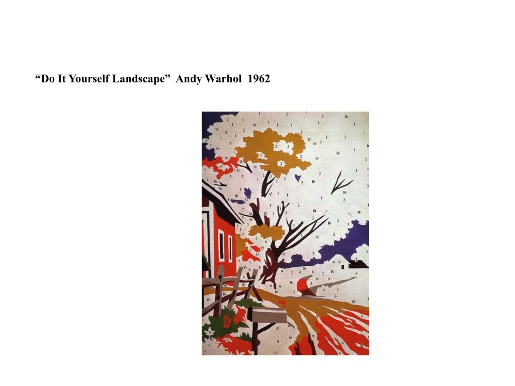 """Do It Yourself Landscape""  Andy Warhol  1962"